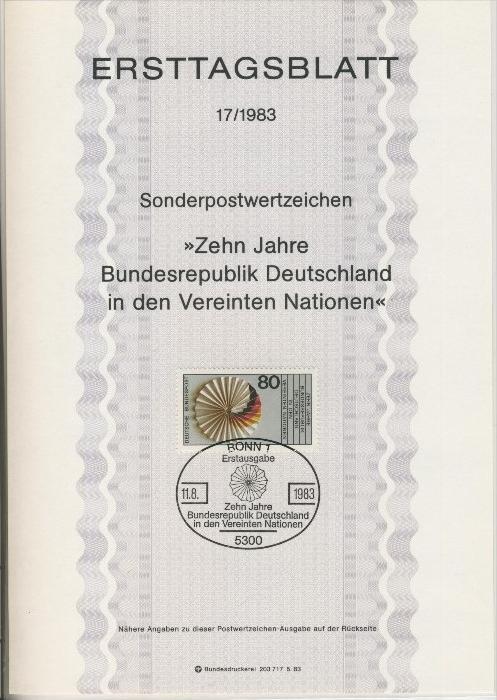 BRD - ETB (Ersttagsblatt) 17/1983 0