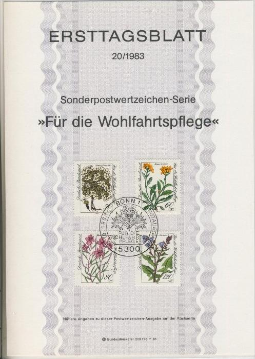BRD - ETB (Ersttagsblatt) 20/1983 0