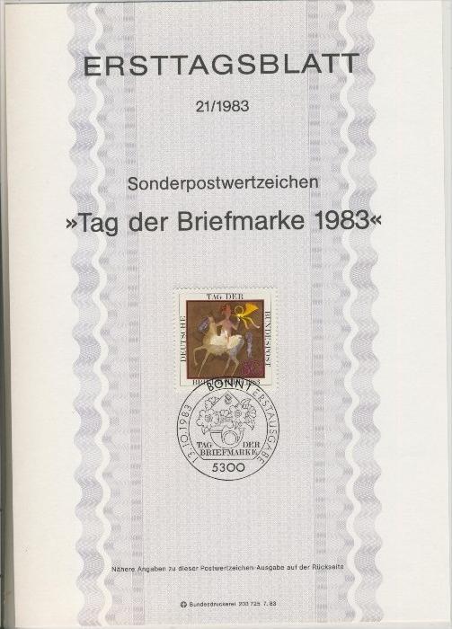 BRD - ETB (Ersttagsblatt) 21/1983 0