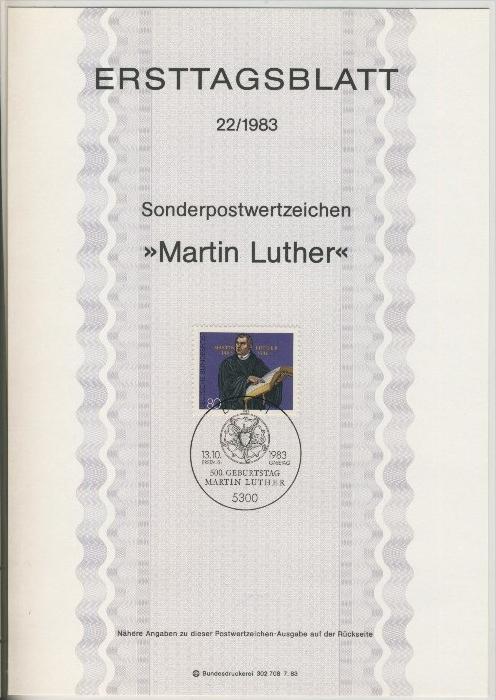 BRD - ETB (Ersttagsblatt) 22/1983 0