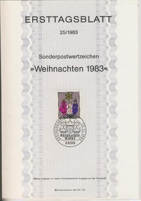 BRD - ETB (Ersttagsblatt) 25/1983 0