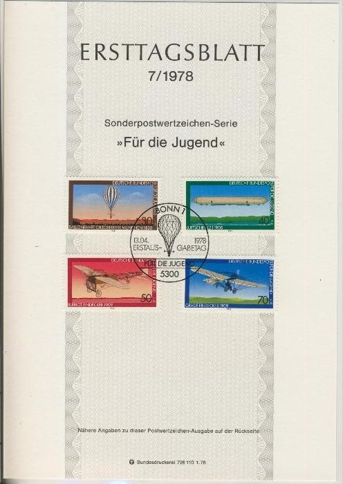 BRD - ETB (Ersttagsblatt) 7/1978 0