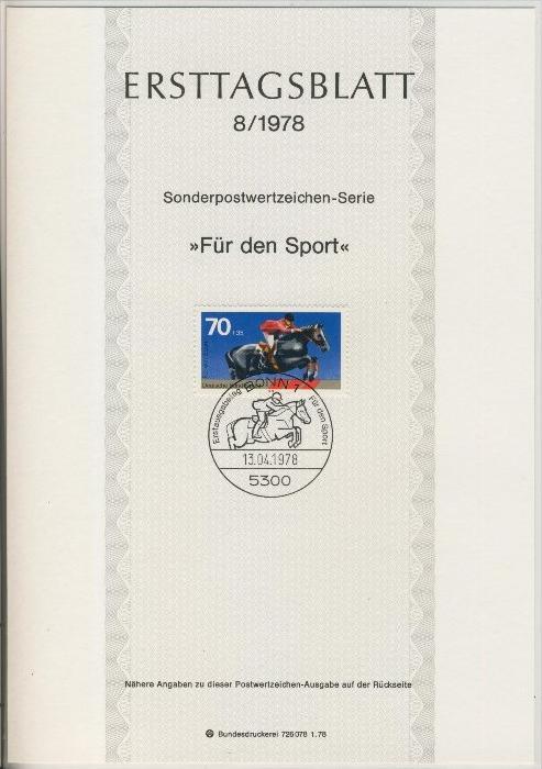 BRD - ETB (Ersttagsblatt) 8/1978 0