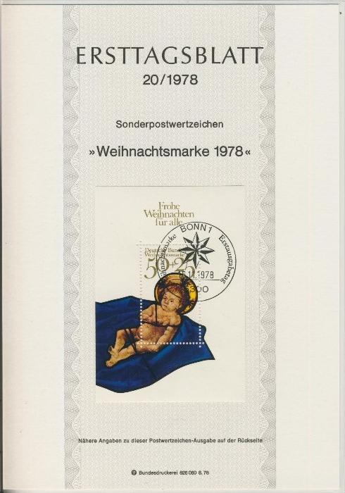 BRD - ETB (Ersttagsblatt) 20/1978 0