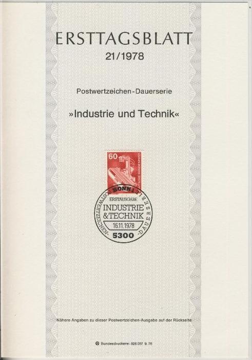 BRD - ETB (Ersttagsblatt) 21/1978 0
