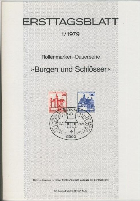 BRD - ETB (Ersttagsblatt) 22/1978 + 1 + 3 / 1979 1
