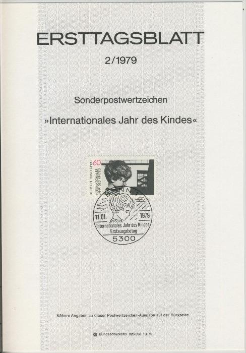 BRD - ETB (Ersttagsblatt) 2/1979 0
