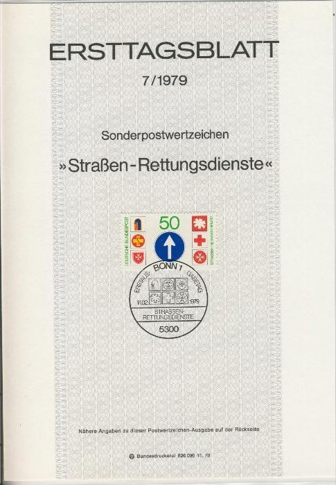 BRD - ETB (Ersttagsblatt) 7/1979 0