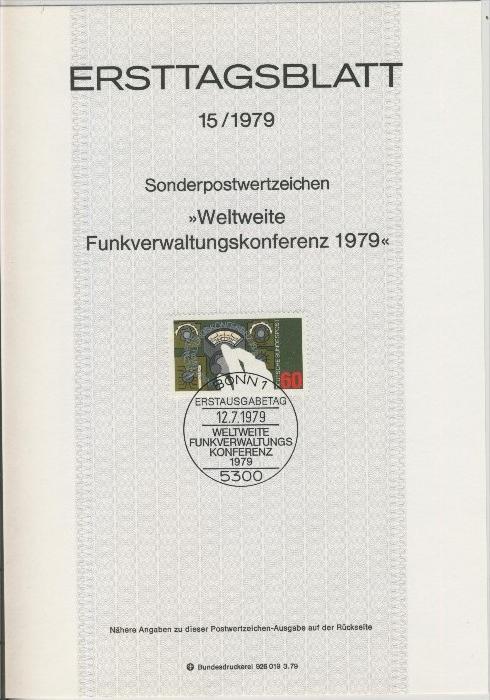 BRD - ETB (Ersttagsblatt) 15/1979 0