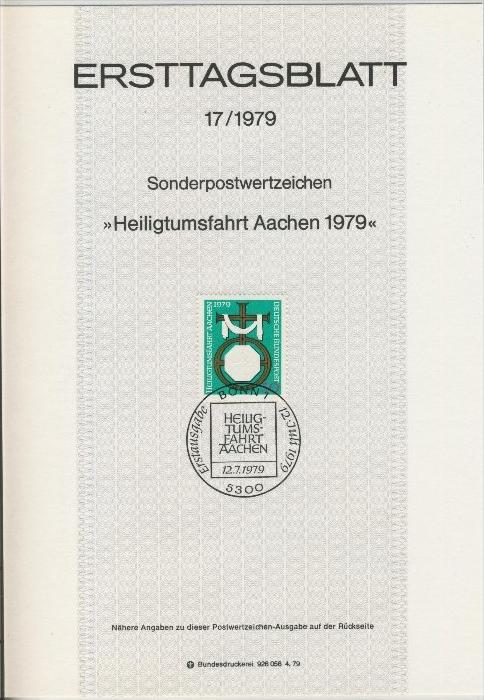 BRD - ETB (Ersttagsblatt) 17/1979 0