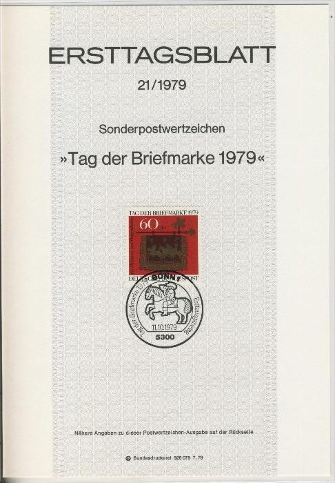BRD - ETB (Ersttagsblatt) 21/1979