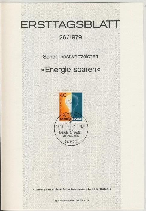 BRD - ETB (Ersttagsblatt) 26/1979 0