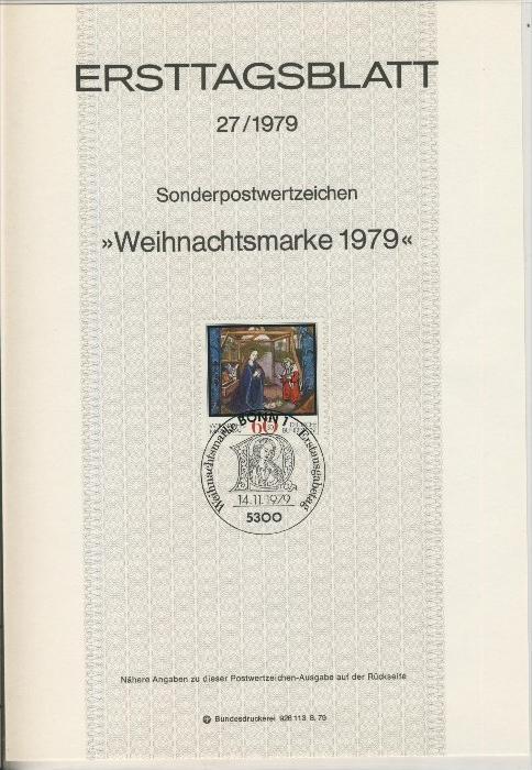 BRD - ETB (Ersttagsblatt) 27/1979 0