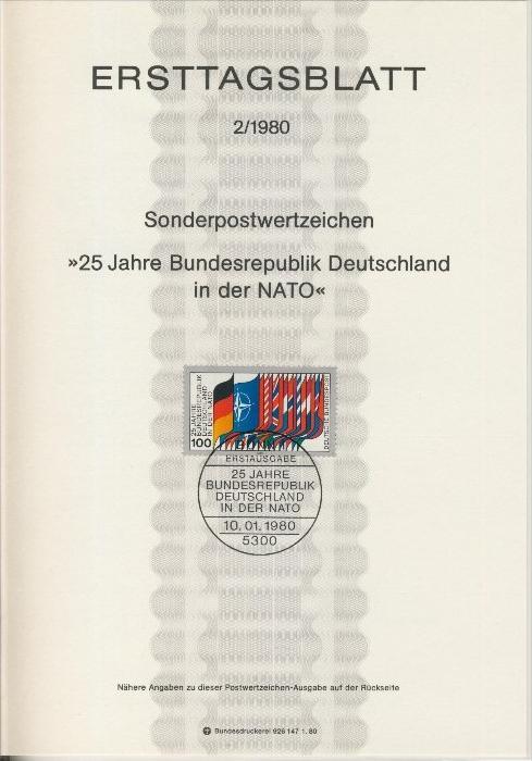 BRD - ETB (Ersttagsblatt) 2/1980 0