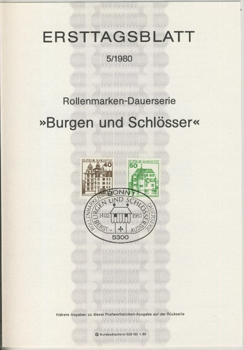 BRD - ETB (Ersttagsblatt) 5/1980 0