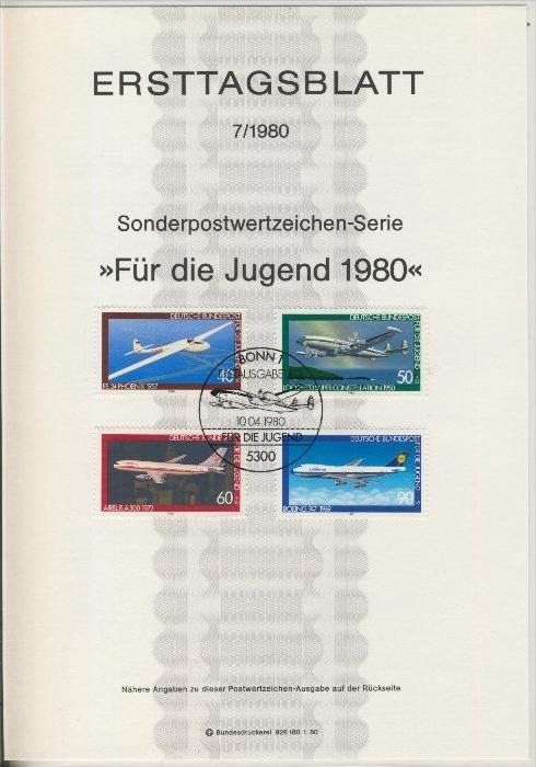 BRD - ETB (Ersttagsblatt) 7/1980 0