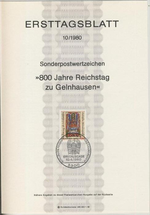 BRD - ETB (Ersttagsblatt) 10/1980 0