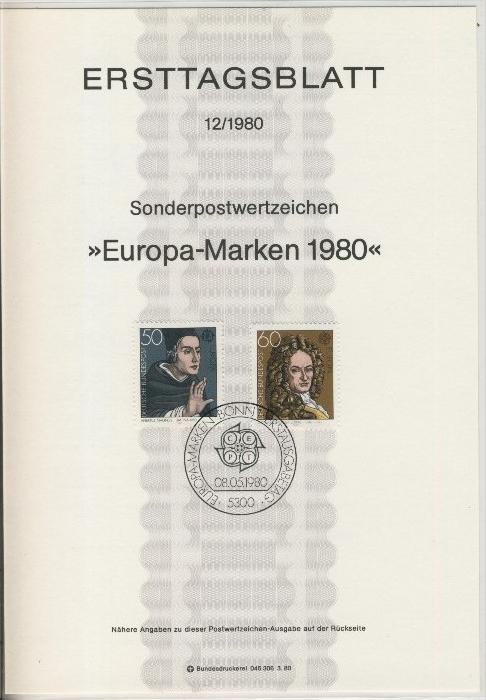 BRD - ETB (Ersttagsblatt) 12/1980 0