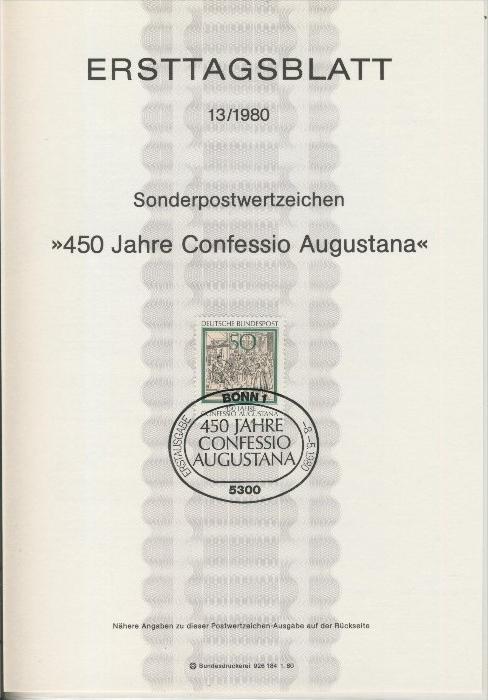 BRD - ETB (Ersttagsblatt) 13/1980 0