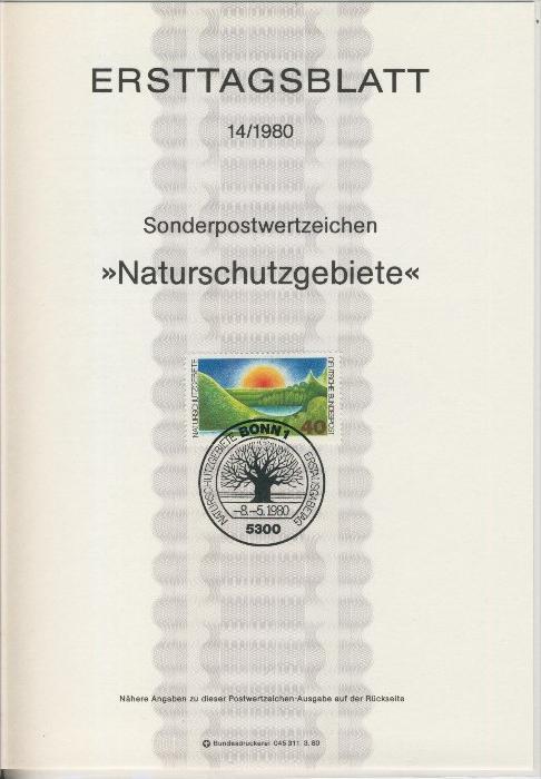 BRD - ETB (Ersttagsblatt) 14/1980