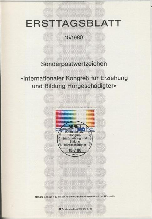 BRD - ETB (Ersttagsblatt) 15/1980 0