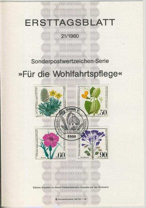 BRD - ETB (Ersttagsblatt) 21/1980