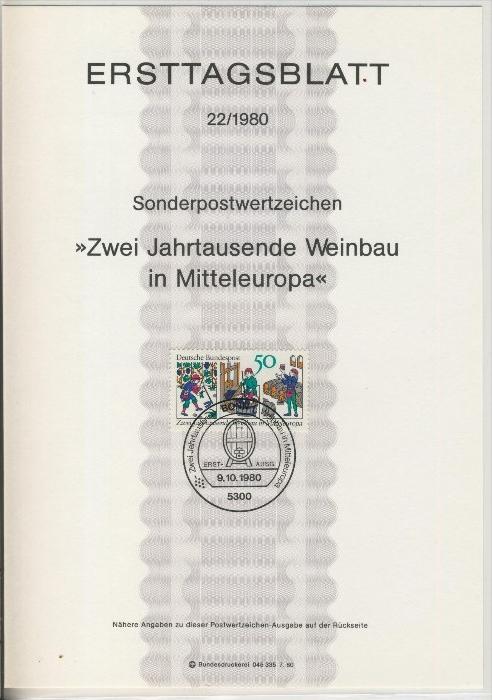 BRD - ETB (Ersttagsblatt) 22/1980 0
