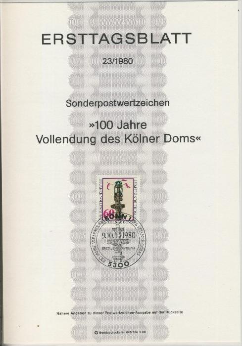 BRD - ETB (Ersttagsblatt) 23/1980 0