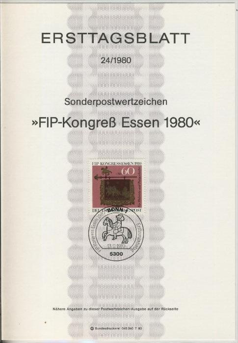 BRD - ETB (Ersttagsblatt) 24/1980 0