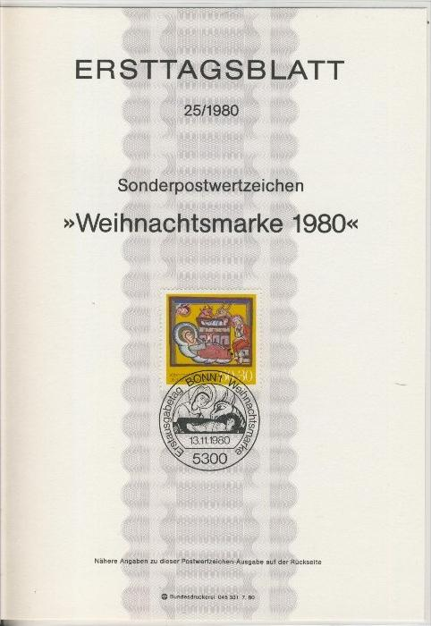BRD - ETB (Ersttagsblatt) 25/1980 0