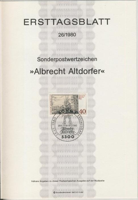 BRD - ETB (Ersttagsblatt) 26/1980 0