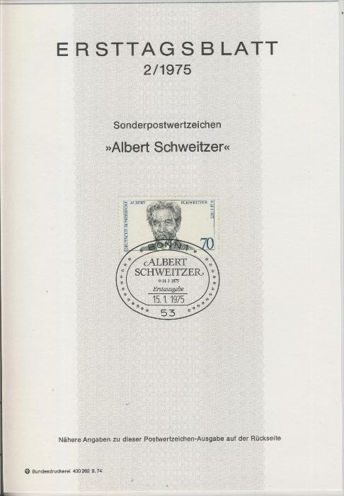 BRD - ETB (Ersttagsblatt) 2/1975 0