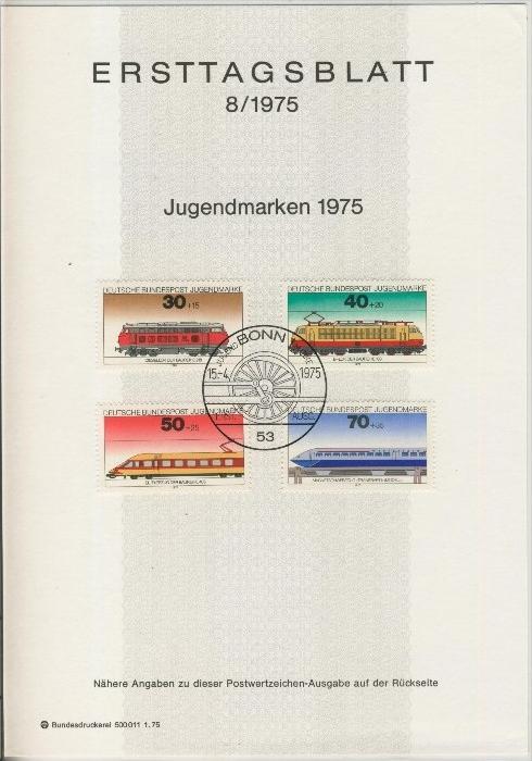 BRD - ETB (Ersttagsblatt) 8/1975 0