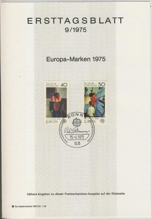 BRD - ETB (Ersttagsblatt) 9/1975 0