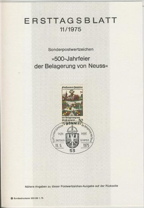 BRD - ETB (Ersttagsblatt) 11/1975 0