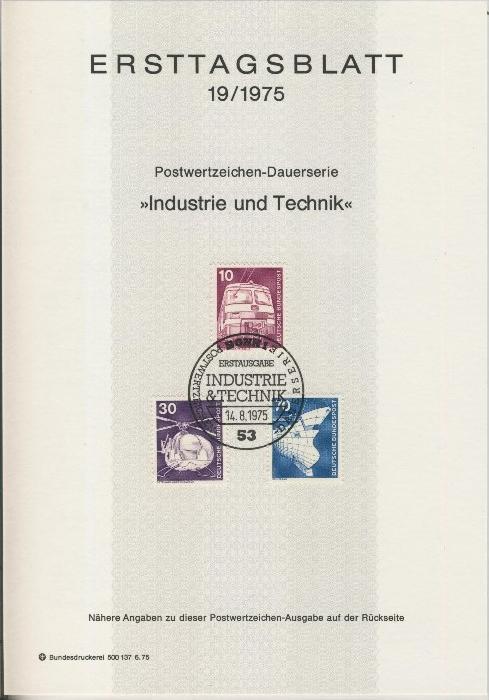 BRD - ETB (Ersttagsblatt) 14+19+21+24/1975 1