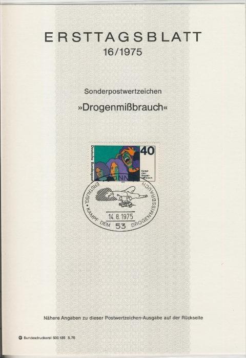 BRD - ETB (Ersttagsblatt)  16/1975 0