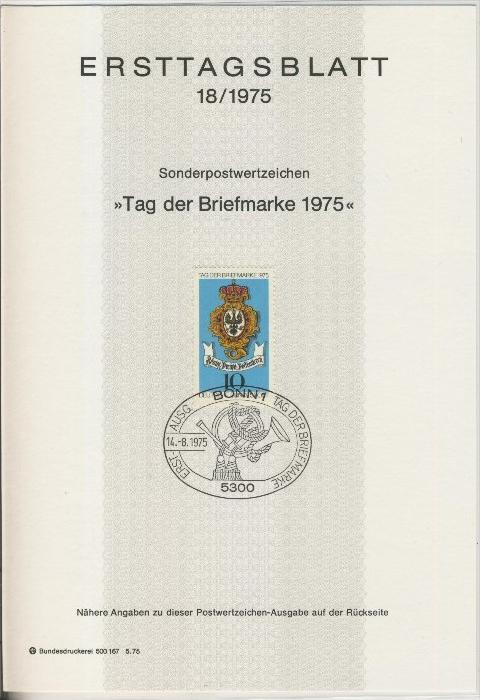 BRD - ETB (Ersttagsblatt)  18/1975 0