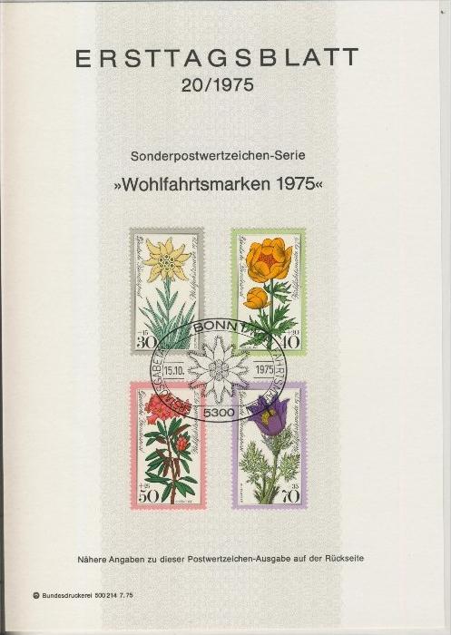 BRD - ETB (Ersttagsblatt)  20/1975 0
