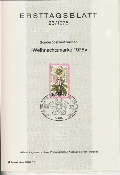 BRD - ETB (Ersttagsblatt)  23/1975 0