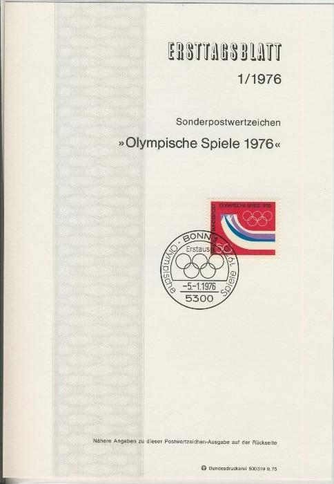 BRD - ETB (Ersttagsblatt)  1/1976 0