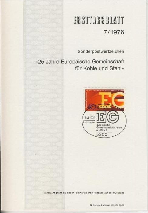 BRD - ETB (Ersttagsblatt)  7/1976 0