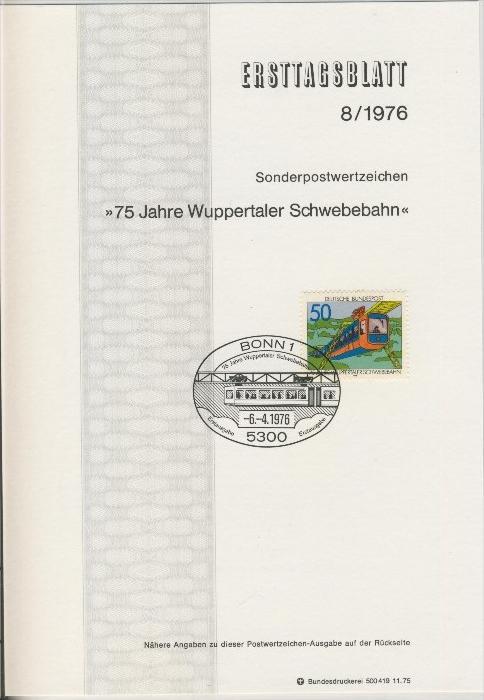 BRD - ETB (Ersttagsblatt)  8/1976 0