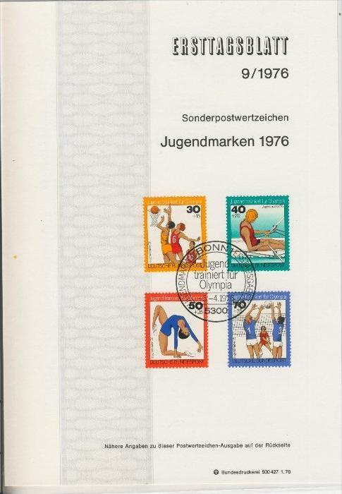 BRD - ETB (Ersttagsblatt)  9/1976 0