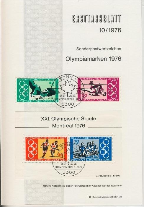 BRD - ETB (Ersttagsblatt)  10/1976 0