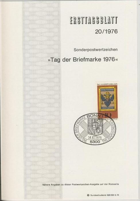 BRD - ETB (Ersttagsblatt)  20/1976 0