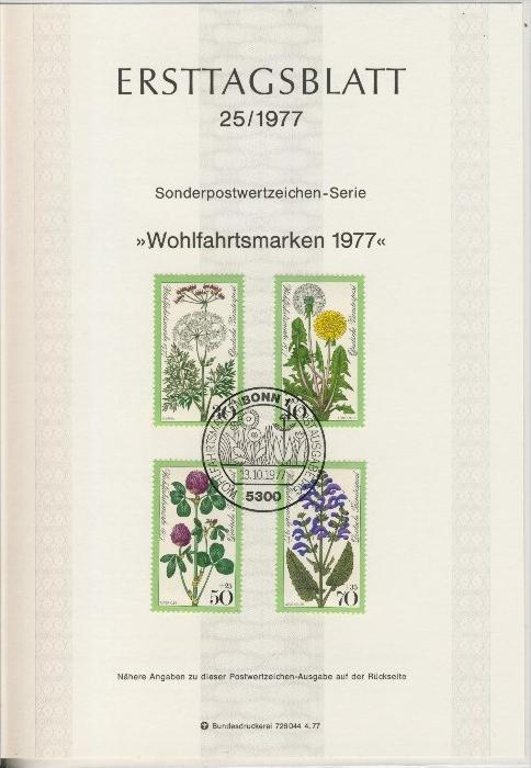BRD - ETB (Ersttagsblatt)  25/1977 0