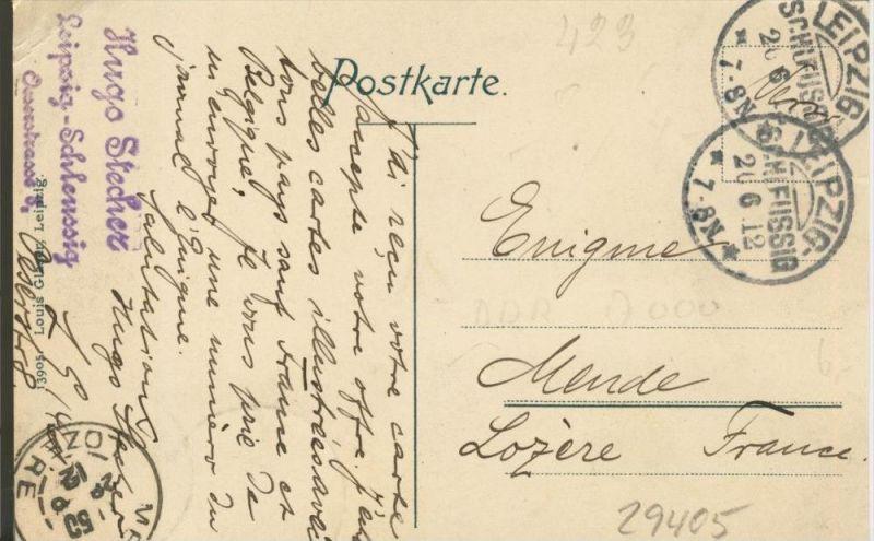 Leipzig v. 1912  Rathaus Ring ()  --  siehe Foto !!  (29405) 1