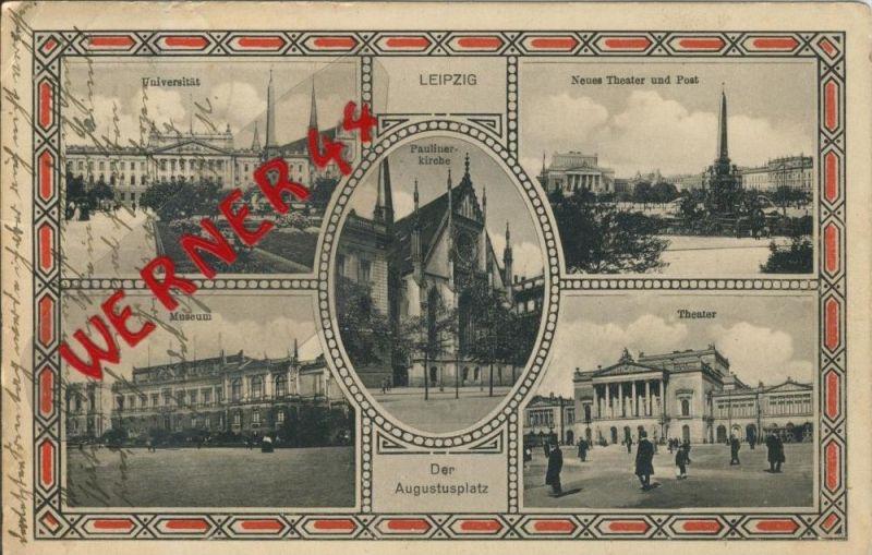 Leipzig v. 1912  5 Ansichten  ()  --  siehe Foto !!  (29406) 0