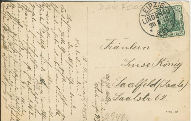 Leipzig v. 1912  5 Ansichten  ()  --  siehe Foto !!  (29406) 1